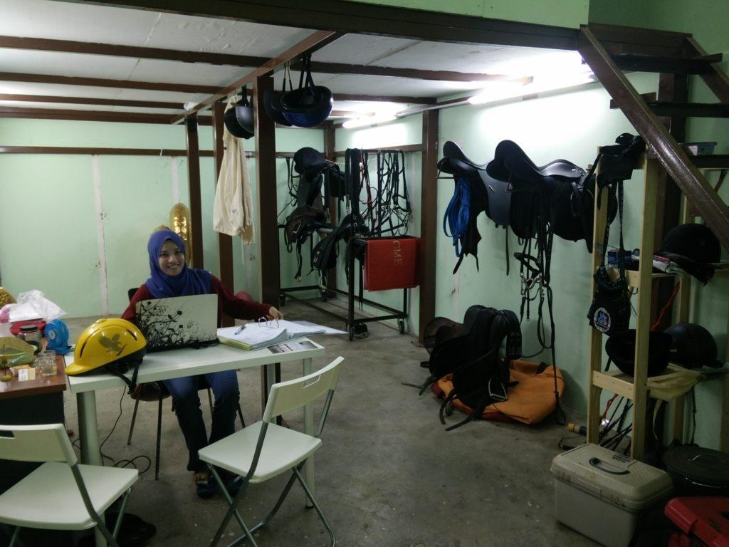 Athirah @ MM2020 Horse Adventure office